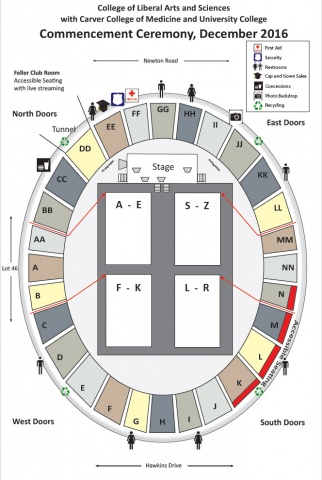 Fall 2016 Commencement Map Seating
