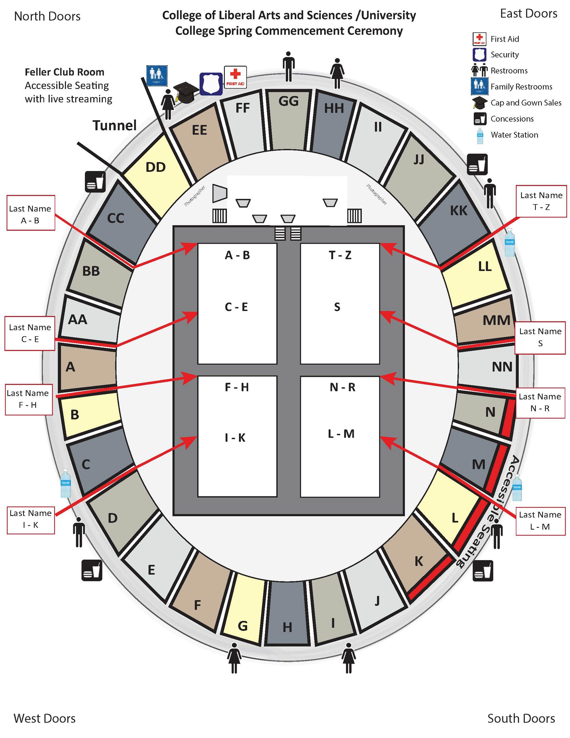 CLAS Seating Map